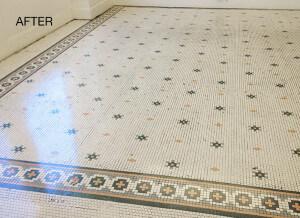 Porcelain Mosaic Floor Restored