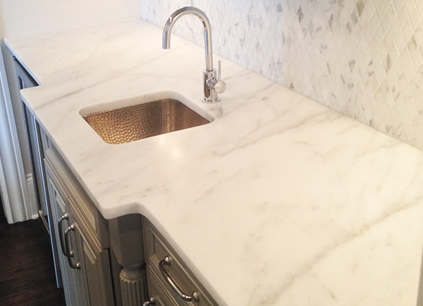 white-carrera-marble-countertop